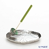 Loyfar 'Lotus Fruit with Lotus Leaf' Green [Pewter] Incense Holder with Green Tea Incense Stick (set of 10)