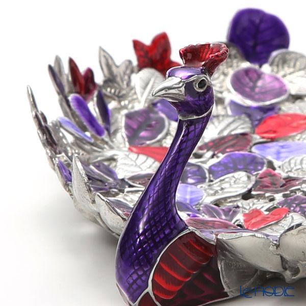 Loyfar 'Peacock - Leaf Feather' Purple [Pewter] Tray