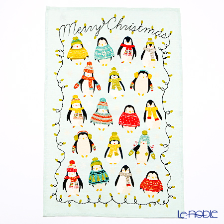 Ulster Weavers Penguin Lights (Christmas) Linen Tea Towel