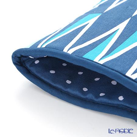 Ulster Weavers 'The Modern Kitchen - Jacquet Indigo' Blue 7JCQ02B Cotton Gauntlet (Oven Glove)