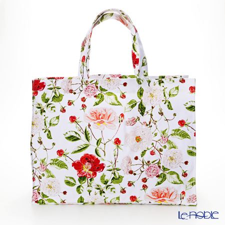 Ulster Weavers x Royal Horticultural Society (RHS) 'Traditional Rose' 609RSE Cotton Canvas Shopper Bag (L)