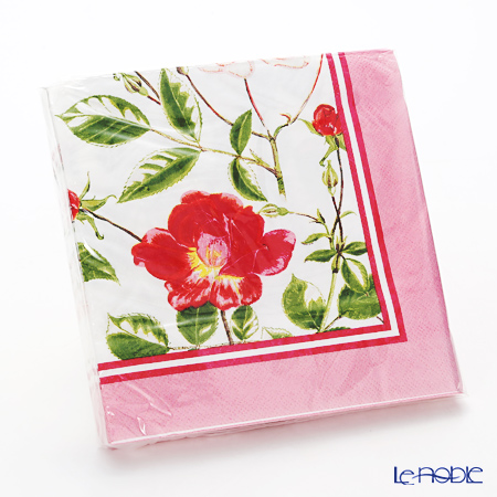 Ulster Weavers x Royal Horticultural Society (RHS) 'Traditional Rose' 4RSE20 Paper Napkin 33x33cm (20pcs)