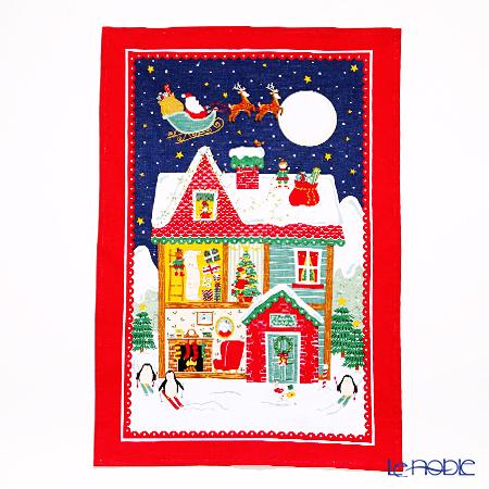 アルスターウィーバーズ サンタズ ワークショップ(クリスマス) リネン ティータオル