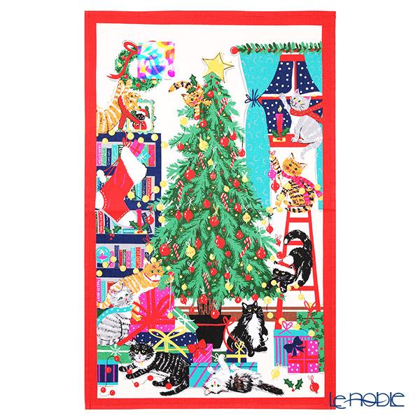 アルスターウィーバーズ クリスマスツリー キャッツ コットン ティータオル