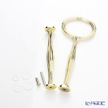 JES プレート用 ケーキスタンド用 ハンドル ゴールド2段(ネジ3mm)【※プレートは付属致しません※】