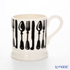 Emma Bridgewater / Earthenware 'Knife & Fork' Black Mug 284ml