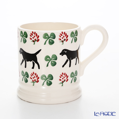 Emma Bridgewater Sponge Labrador & Clover 1/2 Pint Mug