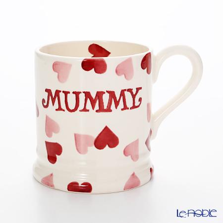 Emma Bridgewater / Earthenware 'Pink Hearts - Mummy' Mug 284ml