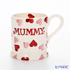 Emma Bridgewater / Earthenware 'Pink Hearts - Mummy' Mug 284ml