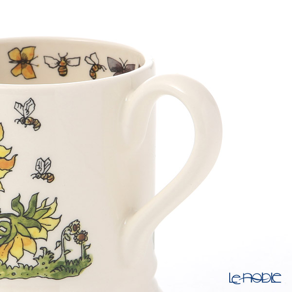 Emma Bridges water Good gardening 19SS Mug (Sunflower & Bee) 340cc