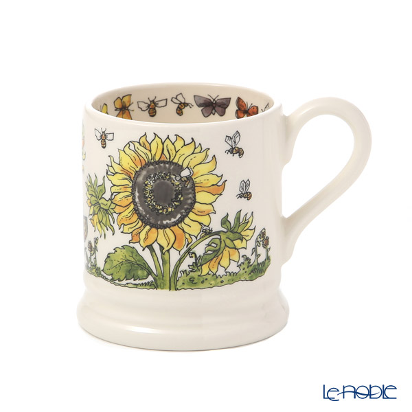 Emma Bridgewater Good Gardening, Sunflowers and Bees 1/2 Pint Mug 340 cc 19SS