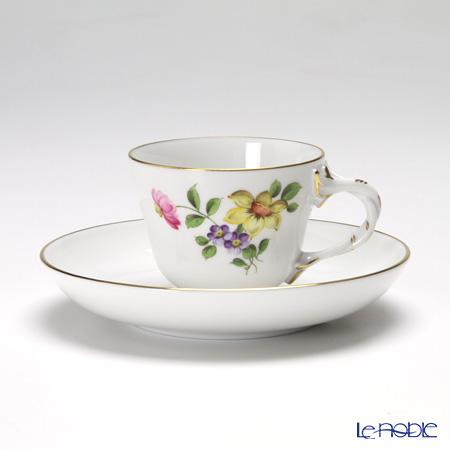 アウガルテン(AUGARTEN) シンプルブーケ(5052A) スイセンモカカップ&ソーサー ロココ(070)