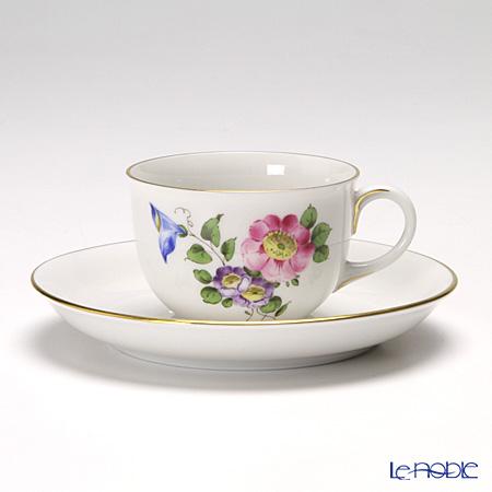 アウガルテン(AUGARTEN) シンプルブーケ(5052B) 野バラモカカップ&ソーサー 0.08L(001)