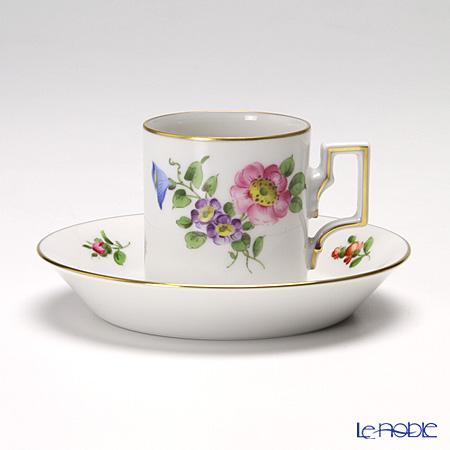 アウガルテン(AUGARTEN) シンプルブーケ(5052B) 野バラモカカップ&ソーサー ハプスブルグ(059)