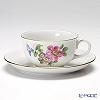 Augarten 'Simple Coloured Floral Bouquets - Dog / Wild Rose' [Schubert shape] Tea Cup & Saucer 200ml (S)