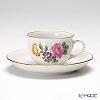 アウガルテン(AUGARTEN) シンプルブーケ(5052C) ピンクのバラモカカップ&ソーサー 0.08L(001)