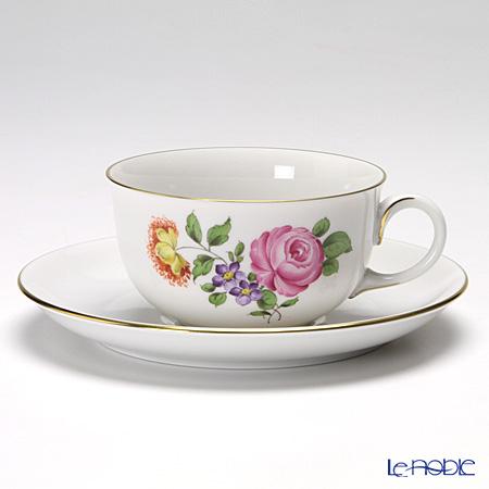 アウガルテン(AUGARTEN) シンプルブーケ(5052C) ピンクのバラ ティーカップ&ソーサー(S) 0.2L(001)
