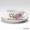 Augarten 'Simple Coloured Floral Bouquets - Pink Rose' [Schubert shape] Tea Cup & Saucer 200ml (S)