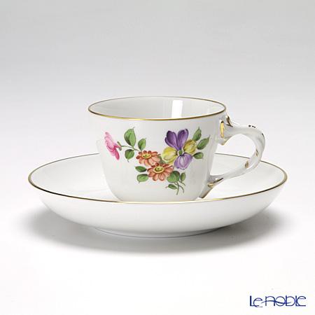 アウガルテン(AUGARTEN) シンプルブーケ(5052D) パンジーモカカップ&ソーサー ロココ(070)