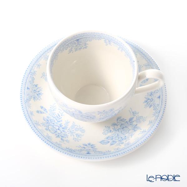 バーレイ ブルーアジアティックフェザンツティーカップ&ソーサー 187cc