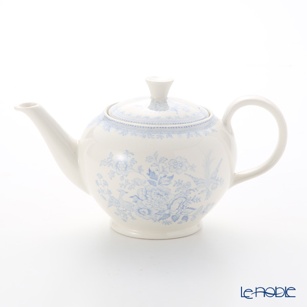 Burleigh Pottery Blue Asiatic Pheasants Teapot, large, 7 cups 800 cc / 1.5 pt