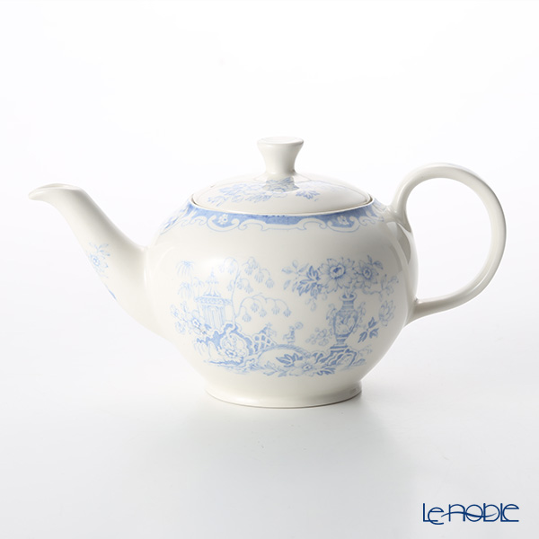 Burleigh Pottery Fortnum & Mason Limited Collection Blue Celeste Teapot, small, 3 cups 400 ml / 0.75 pt