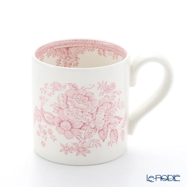 Burleigh Pottery Pink Asiatic Pheasants Mug 284 ml / 0.5 pt