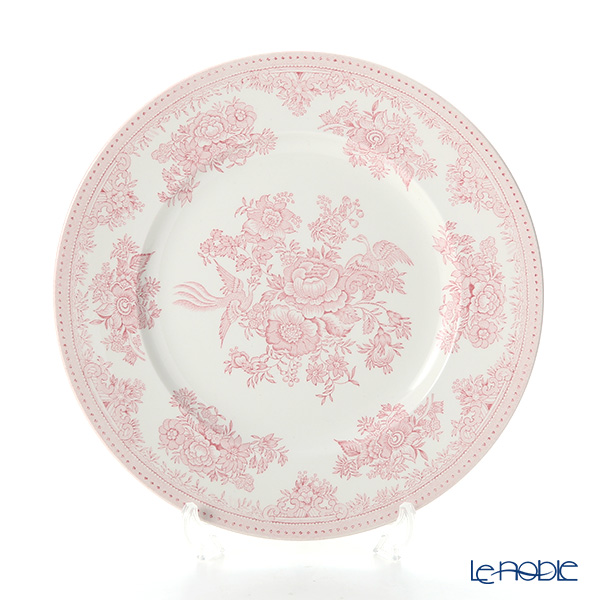 Burleigh Pottery Pink Asiatic Pheasants Plate 22.5 cm