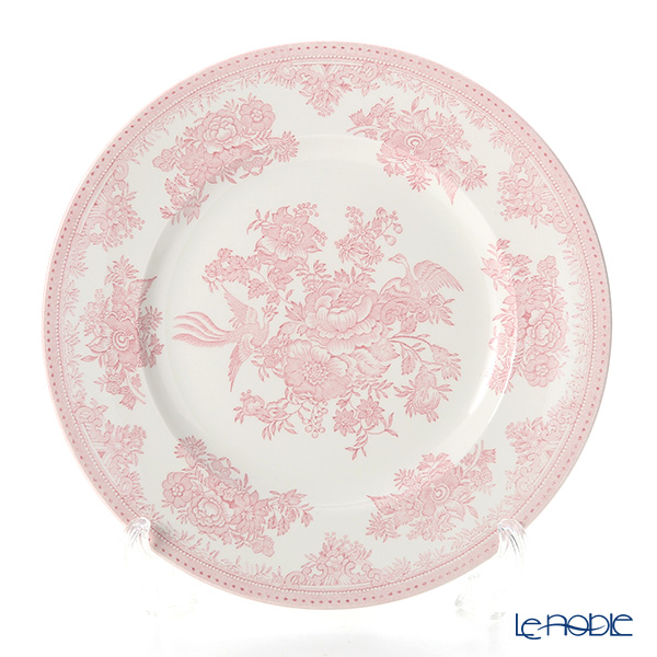 Burleigh Pottery Pink Asiatic Pheasants Plate 25.5 cm
