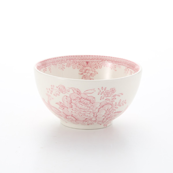 Burleigh Pottery Pink Asiatic Pheasants Sugar Bowl, small, 9.5 cm