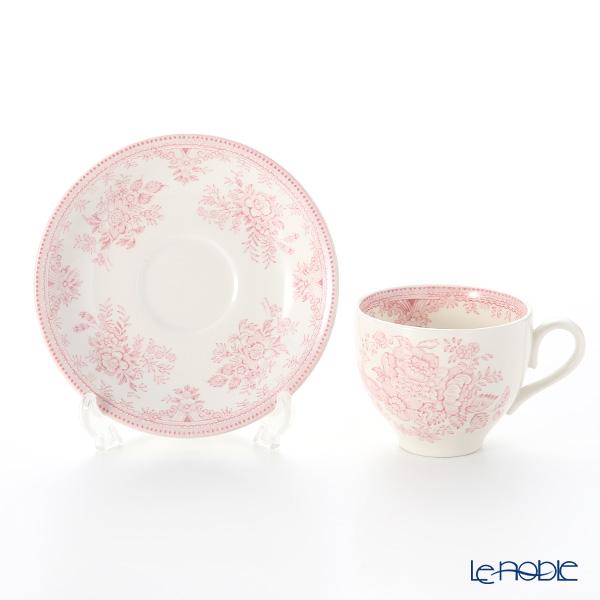 Burleigh Pottery 'Pink Asiatic Pheasants' Tea Cup & Saucer 187ml