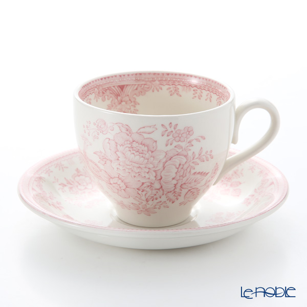 Burleigh Pottery Pink Asiatic Pheasants Teacup & Saucer 187 ml