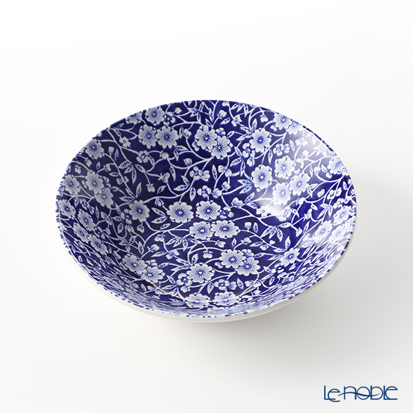 Burleigh Pottery 'Blue Calico' Cereal Bowl 16cm