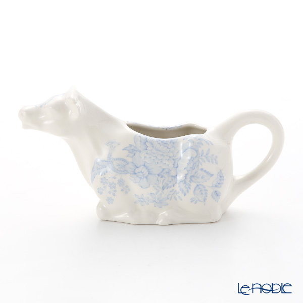 Burleigh Pottery 'Blue Asiatic Pheasants' Cow Creamer 150ml