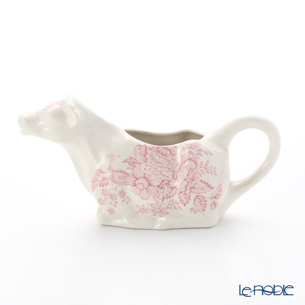 Burleigh Pottery Pink Asiatic Pheasants Cow Creamer 150 ml / 0.25 pt