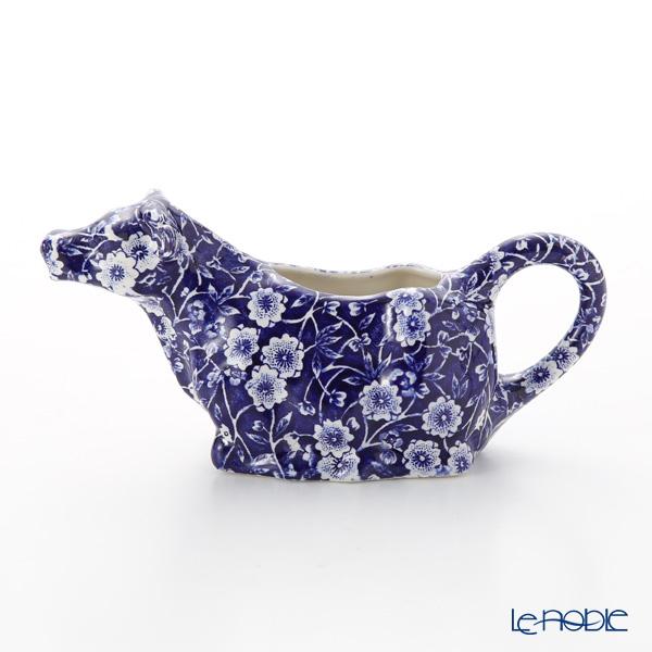 Burleigh Pottery Blue Calico Cow Creamer 150 ml / 0.25 pt