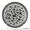 Burleigh Black Regal Peacock Plate 25.5cm