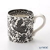 Burleigh Pottery 'Black Regal Peacock' Mug 284ml