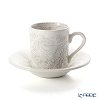 Burleigh Pottery 'Dove Grey Asiatic Pheasants' Espresso Cup & Saucer 75ml