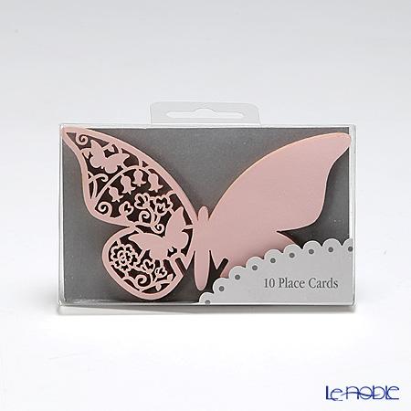 トーキングテーブルズ グラス用プレイスカード 10枚入チョウチョ ピンク S-AIR-PLCARDPK