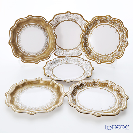 Talking Tables Party Porcelain Gold Plates Medium PPG-PLTE-ME