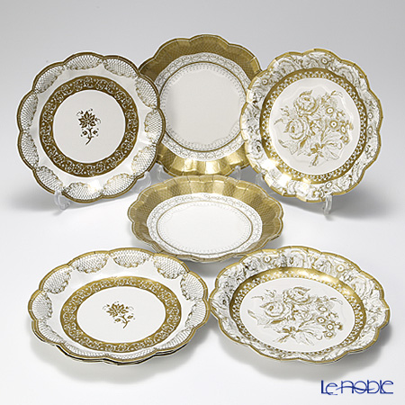 Talking Tables Party Porcelain Gold Small Paper Plates, PPG-PLATE-SML