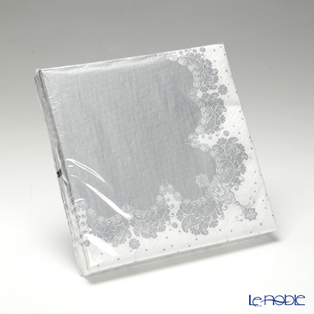 Talking Tables Party Porcelain Silver Napkins, PPS-NAPKIN