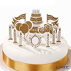 Talking Tables 'Party Porcelain Gold - Happy Birthday' [Paper] Cake Toppers