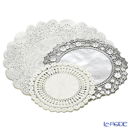 Talking Tables Party Porcelain Silver Doilies, PPS-DOILY