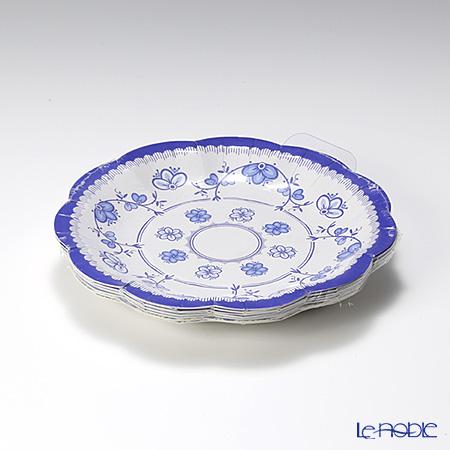 トーキングテーブルズ 紙皿 17cm 12枚入ポーセリンブルー 3柄 各4枚 PPB-PLATE-SML