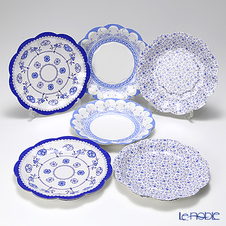 Talking Tables Party Porcelain Blue Small Plates, PPB-PLATE-SML