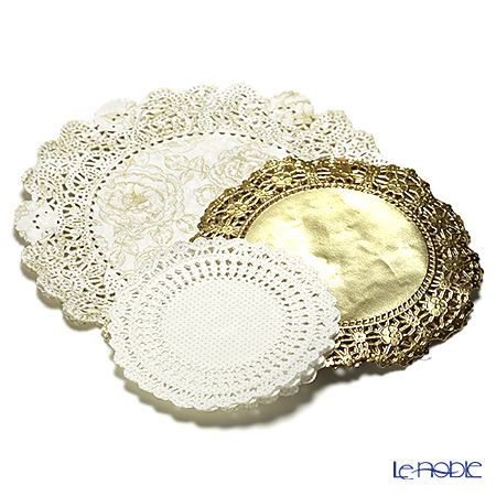 Talking Tables Party Porcelain Gold Gold Doilies, PPG-DOILY