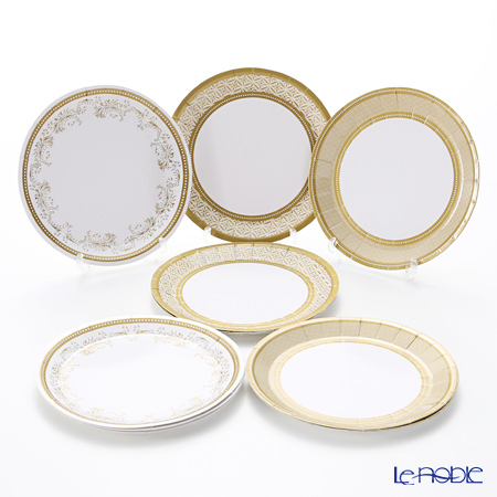 Talking Tables Party Porcelain Gold Canape Plates PPG2-PLATE-CAN