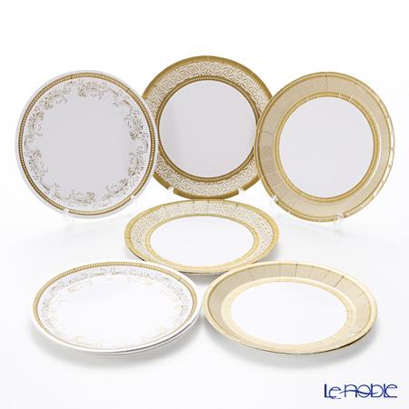 トーキングテーブルズ 紙皿ミニ 13cm 12枚入ゴールド 3柄各4枚 PPG2-PLATE-CAN